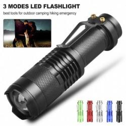 LED zseblámpa övcsipesszel Mini 3 üzemmód Nagyítható 350 Lumen vízálló kézi fény A legjobb eszközök a szabadtéri