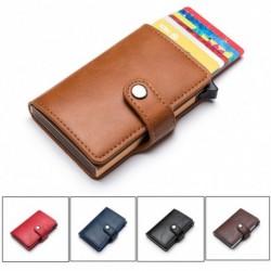 Férfi RFID multifunkcionális blokkoló vékony pénztárca bőr pénz hitelkártya tartó klip férfi pénztárca