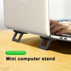 Mini hordozható láthatatlan laptop tartó, állítható hűtőállvány, összecsukható tartó laptop noteszgéphez