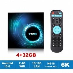Új T95 TV Box Android 10.0 Allwinner H616 négymagos 1080P H.265 6K TVBOX set top box 4 GB 32 GB