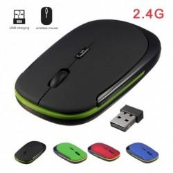 Hordozható 2,4 GHzes vezeték nélküli egér   USBvevő 1600DPI 10 mes játékegér MacBook laptophoz