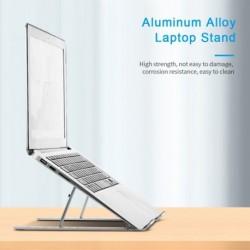 Hordozható laptop állvány állítható notebook állvány tartó alumínium ötvözet PC számítógép hűtő konzol