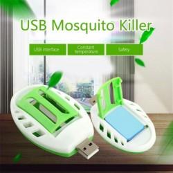 Hordozható USB szúnyoggyilkos elektromos szúnyogriasztó nyári alvásriasztó tömjénmelegítő a rovarkártevők elleni