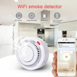 Tuya WiFi füstjelző intelligens vezeték nélküli füstérzékelő tűzvédelmi tűzjelző otthoni biztonsági rendszer