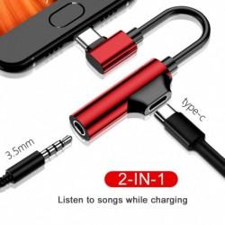 Ctípus  3,5 mmes audio adapter töltőport Ctípusú audio Cbale AUX adapterkábel