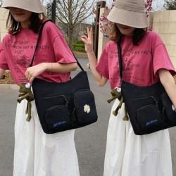 Női rajzfilm aranyos mini messenger táska lány zseb százszorszép vászon válltáska