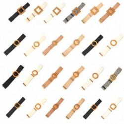 Női viaszkötél kerek négyzet csat szoknya öv Vintage kézi szövésű, rugalmas kötött derék