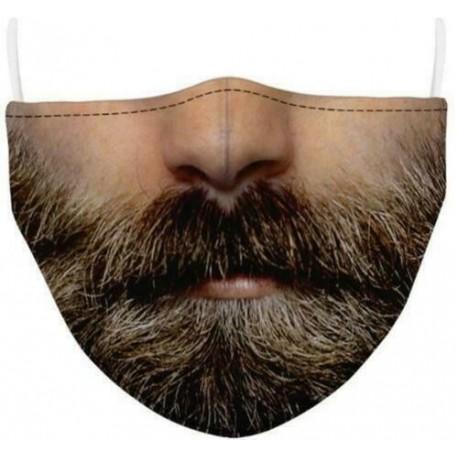 Design-57 - Férfi újrafelhasználható unisex vicces mosható arcmaszk fél arc száj Mark HipHop rajzfilm