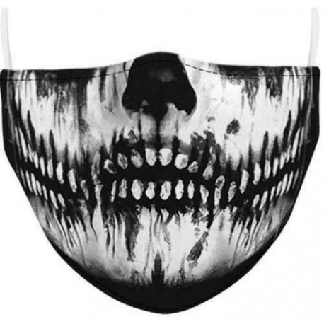 Design-8 - Férfi újrafelhasználható unisex vicces mosható arcmaszk fél arc száj Mark HipHop rajzfilm