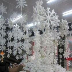 15cm - 30db fehér hópehely karácsonyfa díszítés karácsonyi ünnepi fesztivál party Egyesült Királyságban