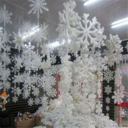 6cm - 30db fehér hópehely karácsonyfa díszítés karácsonyi ünnepi fesztivál party Egyesült Királyságban