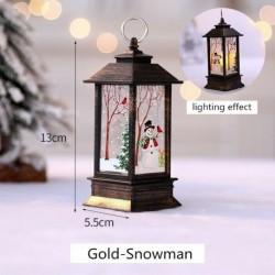 Arany-Hóember - Karácsonyi LED-es függő lámpa Mikulás jávorszarvas lángfényű lakberendezési karácsonyi lámpa
