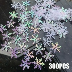 Nincs szín - 300db karácsonyi klasszikus fényes hópehely díszek ünnepi party otthoni karácsonyi dekoráció