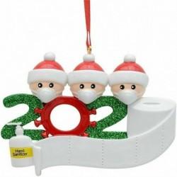 Három fej - 2020 Az év, amelyet karanténba helyeztünk otthon, 3 személyre szabott karácsonyi dísz családban