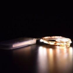 Meleg fehér - 10LED cellás működtetésű mikrohuzal húr tündér fény DIY Party Xmas esküvő