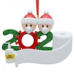 2 tagú családtag - Személyre szabott karácsonyi dísz 2020 karácsonyra függő díszek családi szerelmi ajándék
