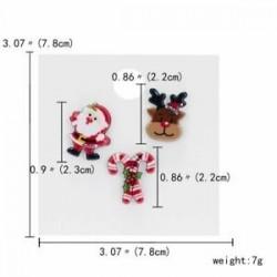 Mikulás nád jávorszarvas - 3/4 / db karácsonyi Mikulás nádsávos jávorszarvas kártya kitűző bross készlet pin