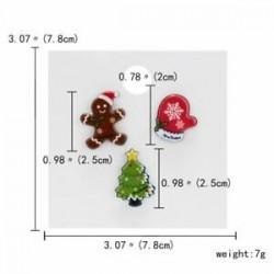 Karácsonyi keksz fa kesztyű - 3/4 / db karácsonyi Mikulás nádsávos jávorszarvas kártya kitűző bross készlet pin