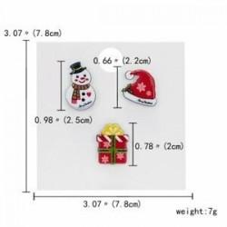 Hóember ajándék doboz kalap - 3/4 / db karácsonyi Mikulás nádsávos jávorszarvas kártya kitűző bross készlet pin