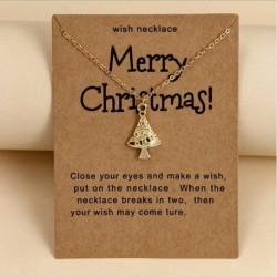 karácsonyfa - Mikulás jávorszarvas medál nyaklánc choker karácsonyi kívánság papír unisex ékszer karácsony