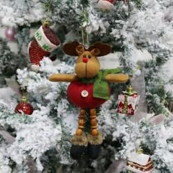 2. jávorszarvas - Karácsonyi ajándék Mikulás hóember dísz fesztivál party Xmas Tree Decor Doll