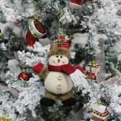 Hóember - Karácsonyi ajándék Mikulás hóember dísz fesztivál party Xmas Tree Decor Doll