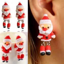 Nincs szín - Kézzel készített piros karácsonyi Mikulás vicces karácsonyi lányok ajándék ötlet fülbevalók ékszerek