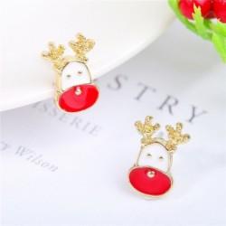 * 4 - Karácsonyfa hóember szarvas harang fül fülbevalók karácsony party ékszer ajándék