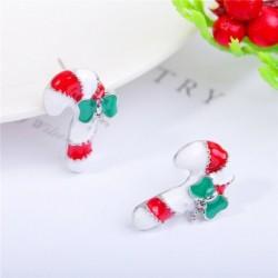* 11 - Karácsonyfa hóember szarvas harang fül fülbevalók karácsony party ékszer ajándék