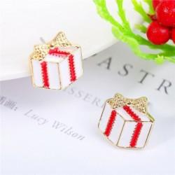 * 7 - Karácsonyfa hóember szarvas harang fül fülbevalók karácsony party ékszer ajándék