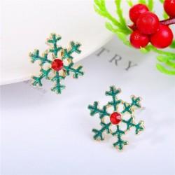 * 10 - Karácsonyfa hóember szarvas harang fül fülbevalók karácsony party ékszer ajándék
