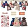 * 3 - 24 napos karácsonyi adventi naptár táskák cukorka ajándékcsomagok barkácskészlet 4 színű gerenda