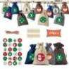 * 8 - 24 napos karácsonyi adventi naptár táskák cukorka ajándékcsomagok barkácskészlet 4 színű gerenda