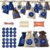 * 9 - 24 napos karácsonyi adventi naptár táskák cukorka ajándékcsomagok barkácskészlet 4 színű gerenda