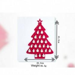 Zöld - Lógó filc karácsonyfa naptár visszaszámlálás a karácsonyi adventi naptárhoz