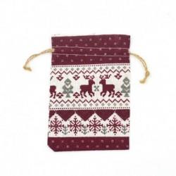 Nincs szín - Karácsonyi barkács Adventi naptár visszaszámlálása 1 ~ ~ 24 szám táska cukorkák tárolása