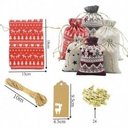 Nincs szín - Karácsonyi / barkács Adventi naptár visszaszámlálása 1 ~ 24 szám táska cukorkát tároló tasak