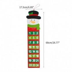 Hóember - Karácsonyi adventi naptár lógós naptár lakberendezési játék édességzsebek