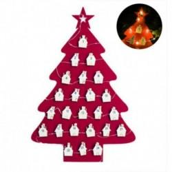 Piros - Parti filc naptár dekoráció karácsonyi medál klip húr 24 számozott dekoráció