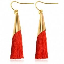 * 279 - Női divat cseh fülbevalók ékszerek hosszú bojt rojt Boho horog csepp csüngő