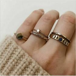 8db / 1. arany készlet - 20db Boho verem sima felett csülök gyűrű Midi ujjhegy gyűrűk készlet ezüst / arany