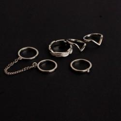 6db / készlet ezüst - 20db Boho verem sima felett csülök gyűrű Midi ujjhegy gyűrűk készlet ezüst / arany