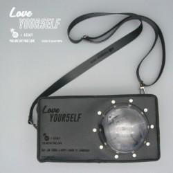 Szürke Love Yourself válltáska kivehető kézi lámpával - KPOP - BTS - Bangtan Boys - ver.3