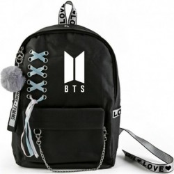 Fekete hátitáska - BTS logóval - KPOP - BTS - Bangtan Boys - A
