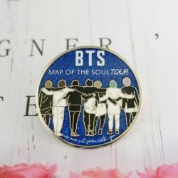 5cm - KPOP BTS Bangtan Boys RM Jin Metal SUGA Jimin J-Hope V Jung Kook Badge Pin Sa