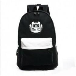 Fekete-Fehér hátitáska - BTS logóval - KPOP - BTS - Bangtan Boys