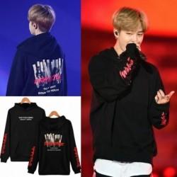 XL - JIMIN BTS Bangtan kapucnis pulóver Kpop koreai divattérkép a lélek 7 személyből MOTS