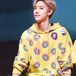 S - KPOP EXO GOT7 Just Right Mark Jackson Hoodie Bangtan Boys Cute Donut