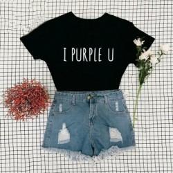 M-es - Fekete I PURPLE U feliratos póló - KPOP - BTS - Bangtan Boys