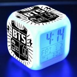 5. - BTS Bangtan Boys LED Nachtlampe színes váltó Lichter digitális riasztó Wecker mód